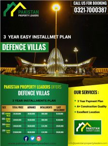 New deal of Villas in Bahria Town Karachi