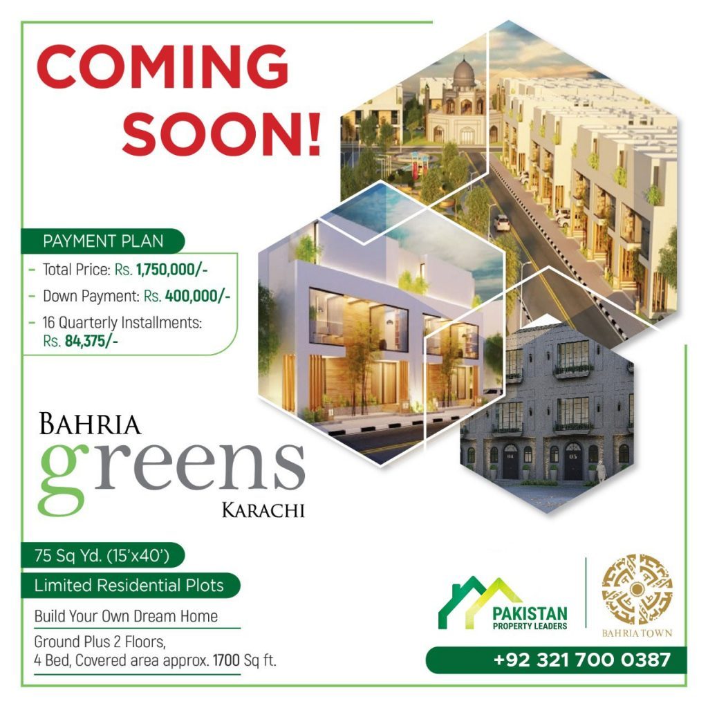 Bharia Greens Karachi Coming Soon