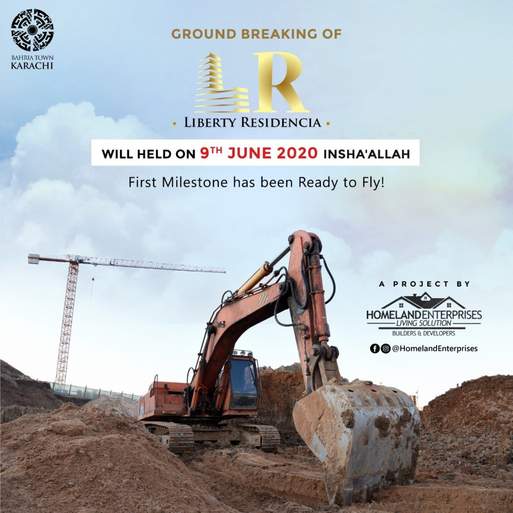 The groundbreaking Ceremony Of The Liberty Residency Bahria Town Karachi