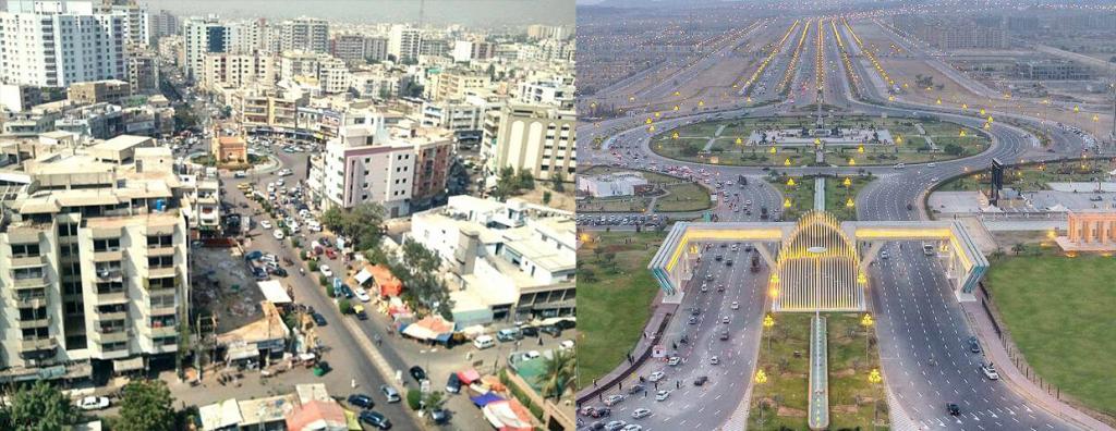 Comparison between Bahria Town and Karachi City