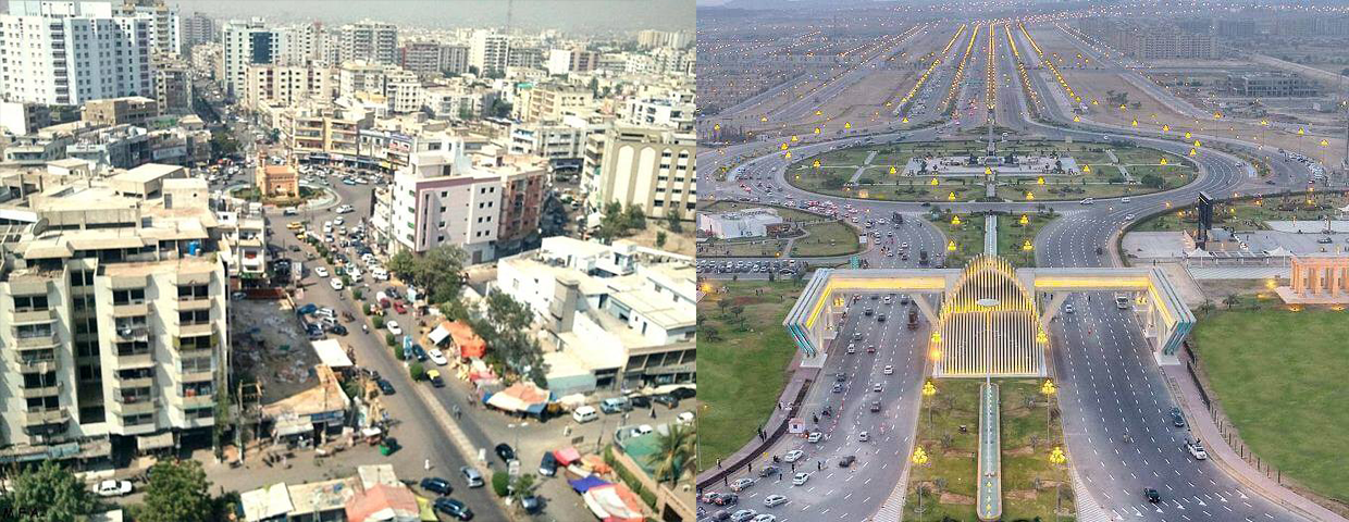 Comparison between Bahria Town and Karachi City